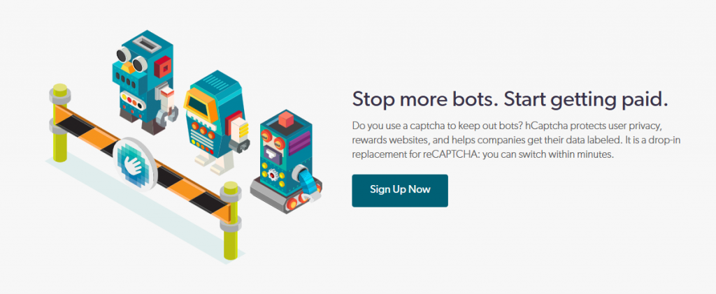 hCaptcha - Stop more bots and start getting paid